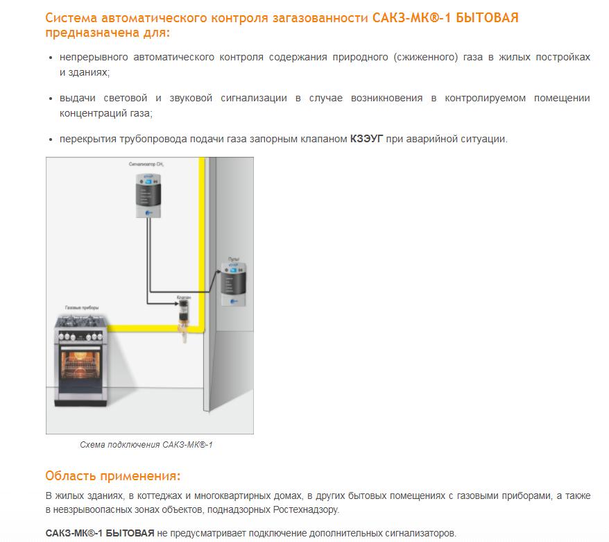 установка системы контроля загазованности